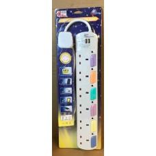 UKase 英特 6插位拖板連2USB充電插位