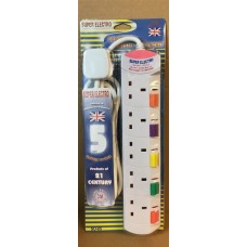 SUPER ELECTRO 5 way extension socket