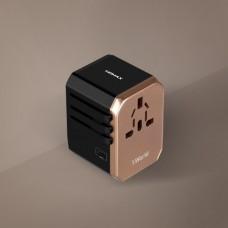 Momax 1-World USB AC Travel Adapter (Type-C + 4 USB-A)